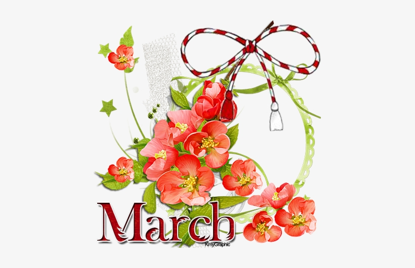Banner Royalty Free March Clipart Friendship Flower.