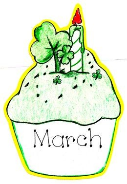 March Birthday Clipart.