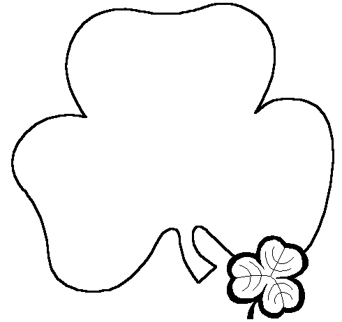 Free Black And White Clipart St Patricks Day March.