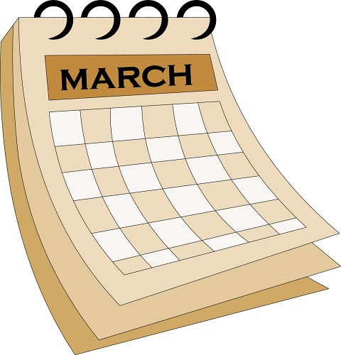 March Calendar Clipart Free.