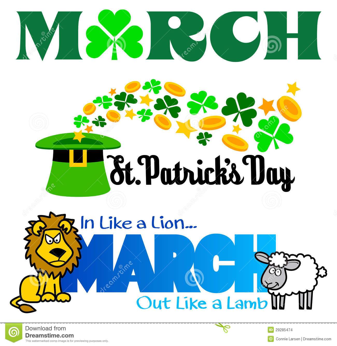 March Clip Art For Calendar.