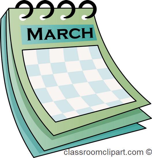 March Calendar Clipart Free.