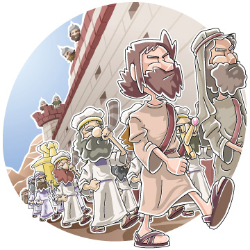 Christian clipArts.net _ March around the wall of Jericho.