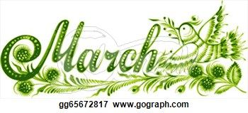 Month of March Clip Art.