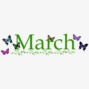 March Clip Art Banner , Png Download.