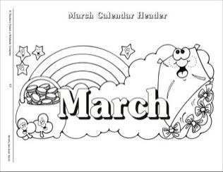 Calendar Clipart Black And White regarding March Clipart.