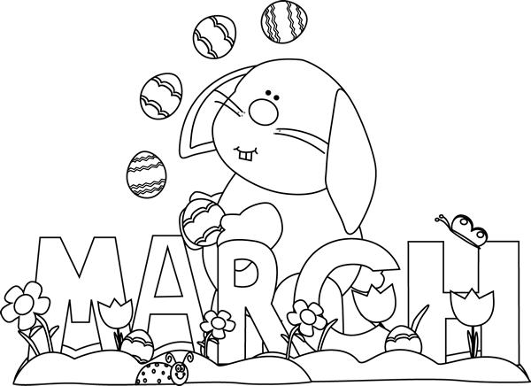 Free Download March Clipart Black And White Pictures.
