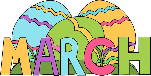 March Clip Art For Teachers.