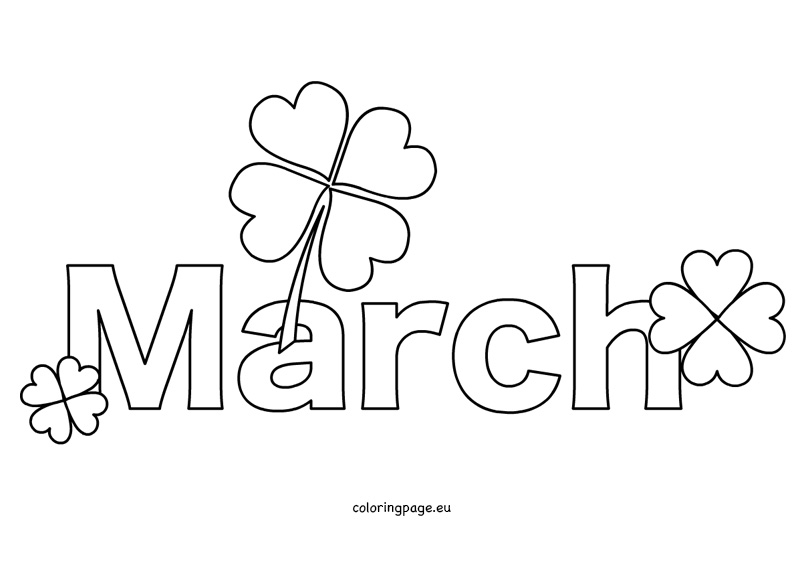 March Clipart Black And White.