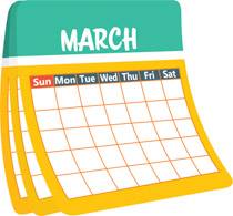 March Calendar Clipart.