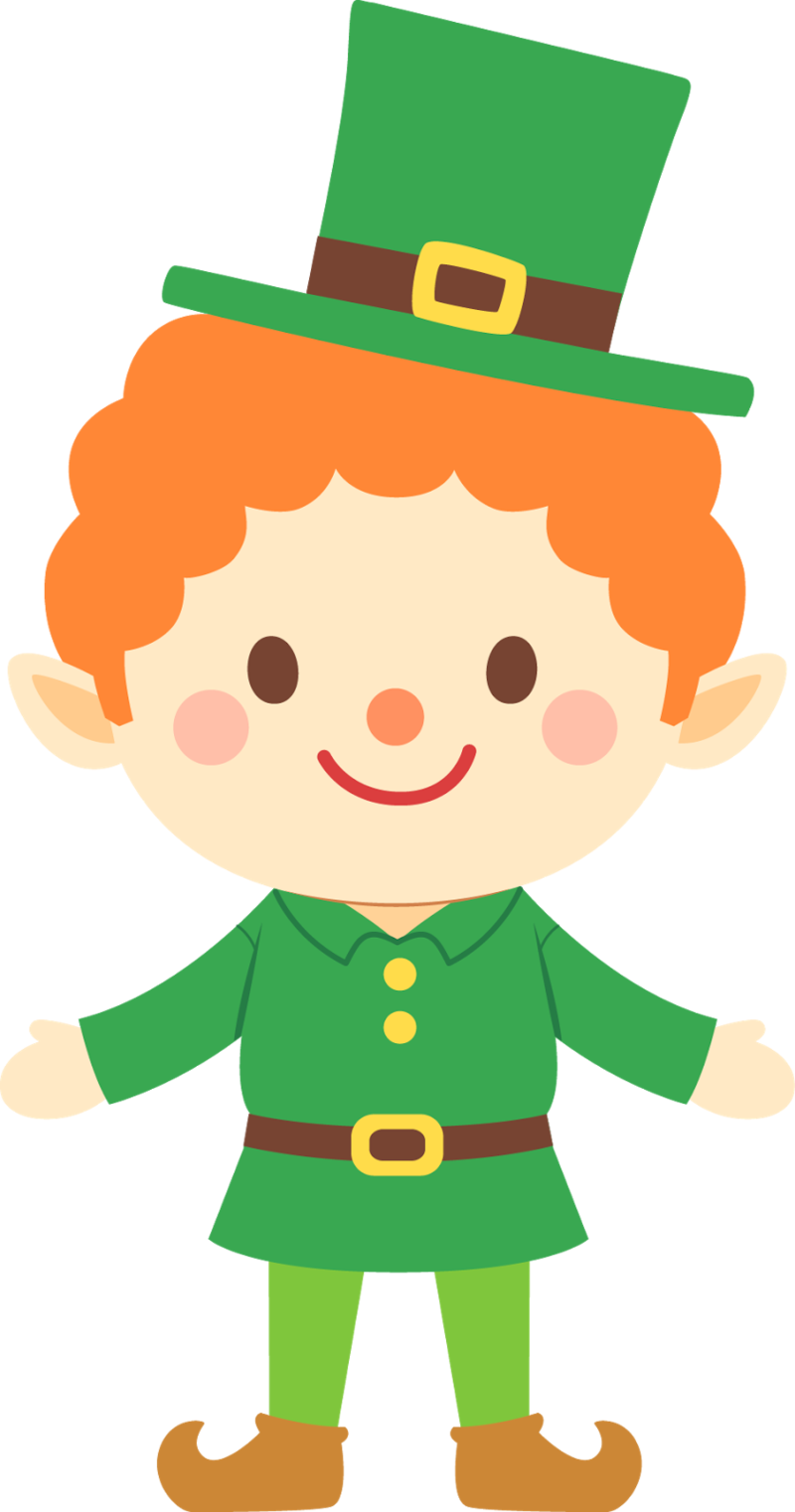 Download Free png March cute leprechaun clipart.