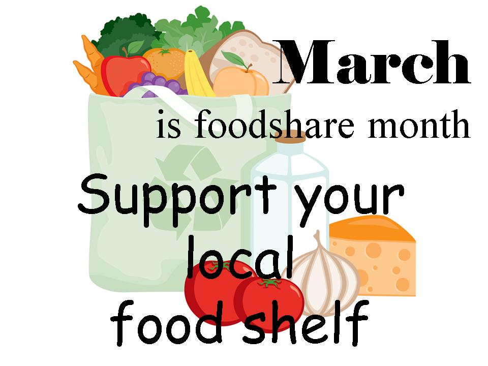 March is Foodshare Month.