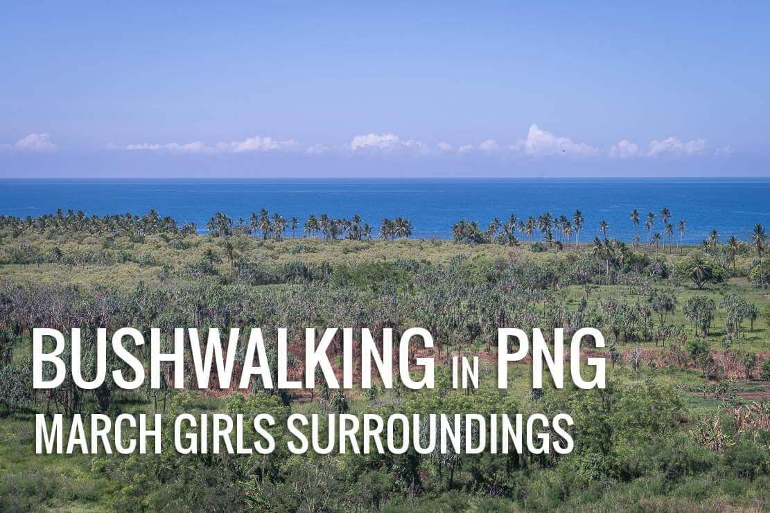 Bushwalking in PNG: surroundings of March Girls resort.