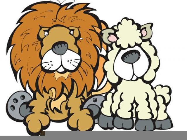 Sheep clipart lion lamb.