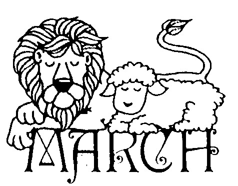 In Like A Lion Out Like A Lamb Clipart.