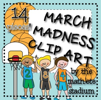 March Madness Basketball Clipart.