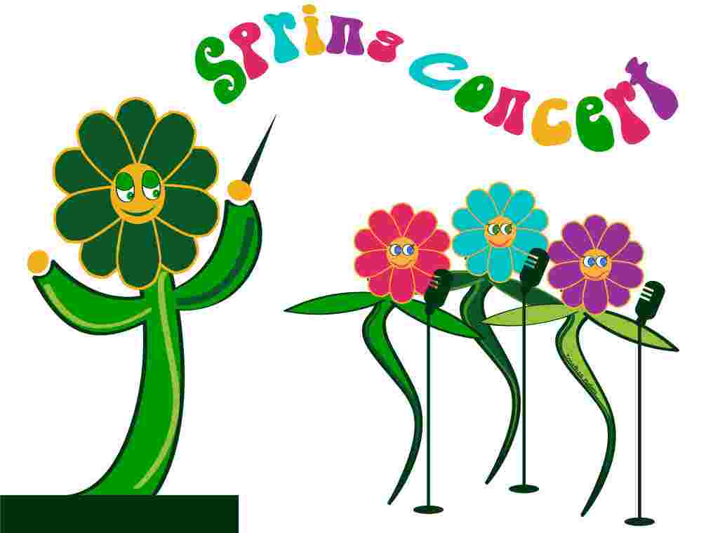 Cliparts Library: Spring Sing Clipart Free March 2000 Sing.