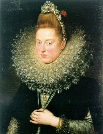 Portrait Of A Woman, said to be the Lady of Licnidi, 1602, Peter.