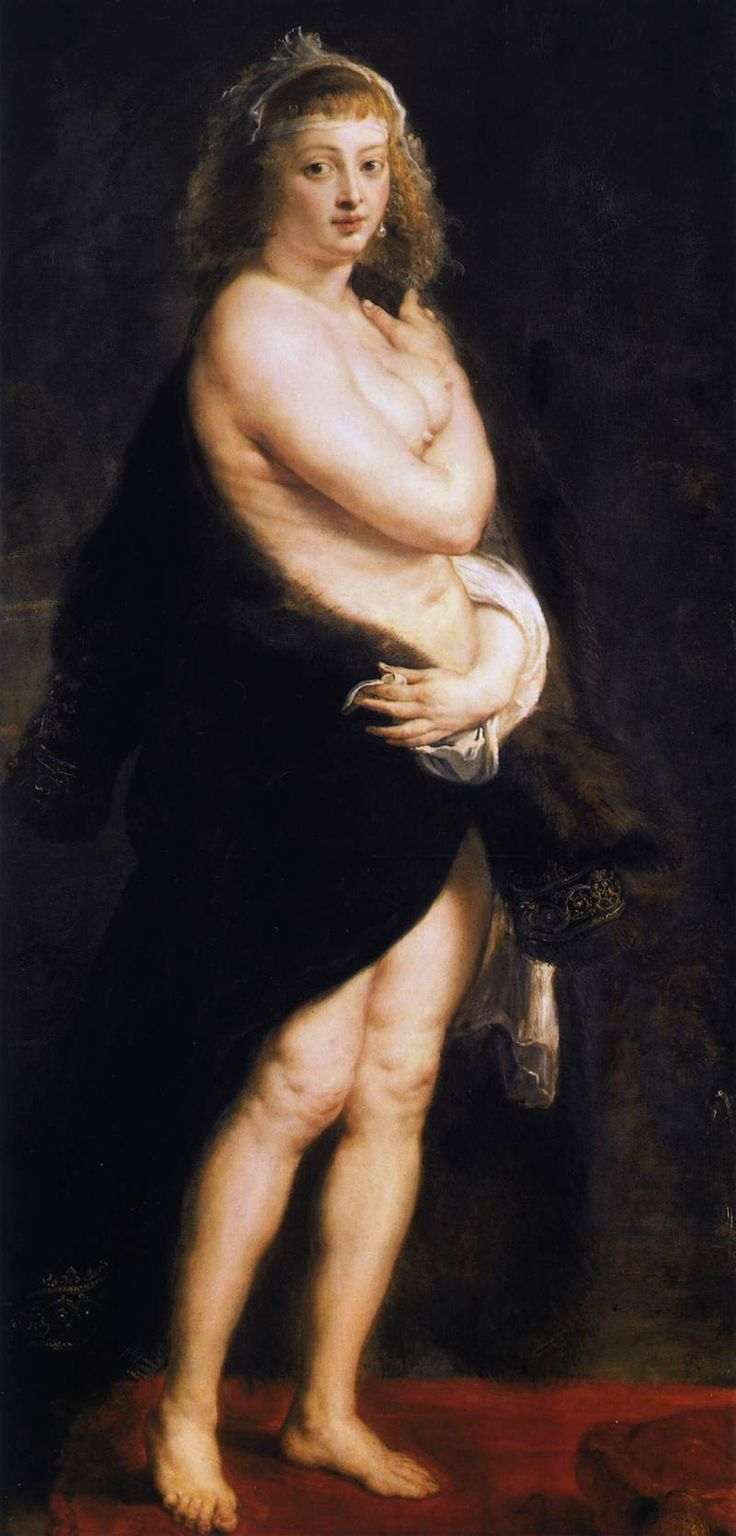 "PETER PAUL RUBENS: The Fur (""Het Pelsken""), 1630s, Oil on wood."