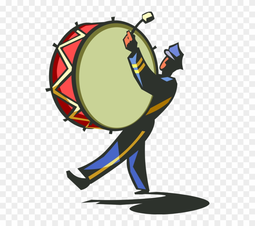Clip Art Royalty Free Library Marching Band With Drum.