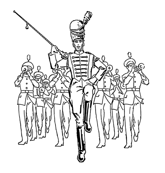 High school marching band and clipart.