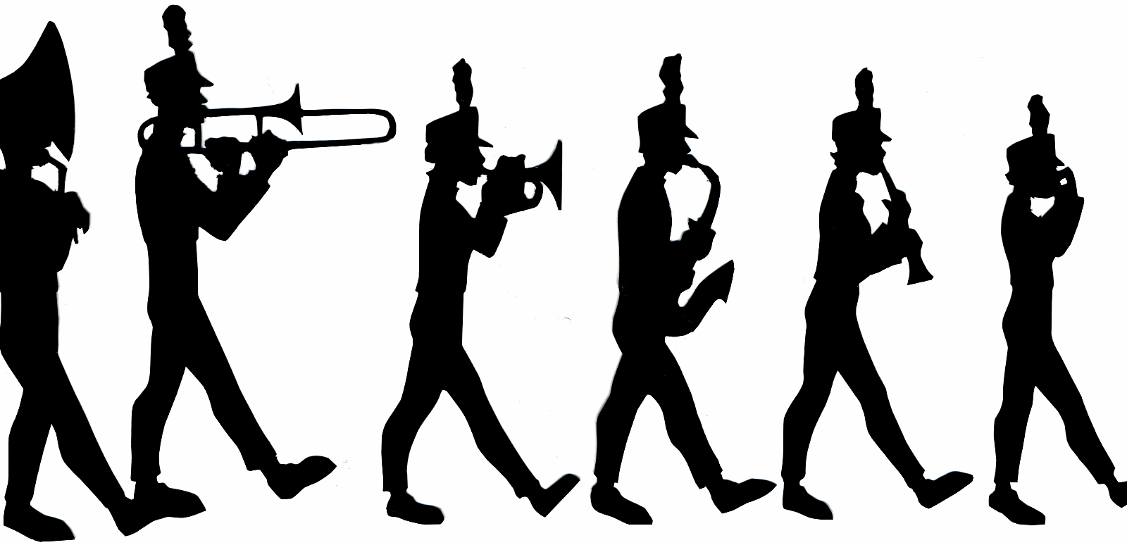 High school marching band clipart.