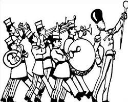 Marching band clipart black and white 4 » Clipart Portal.