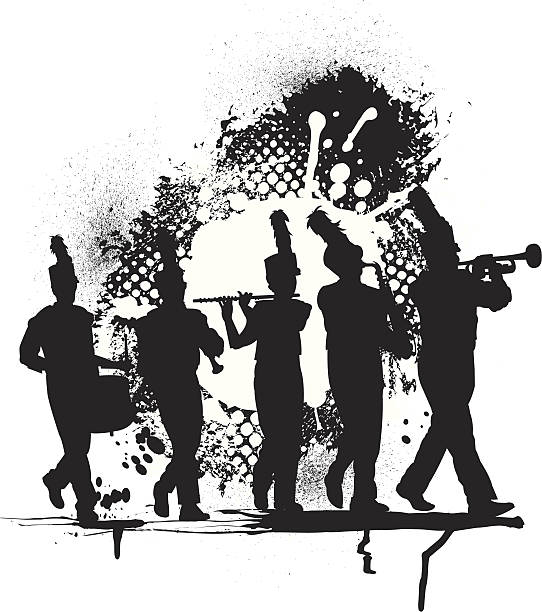 Marching band clipart black and white 5 » Clipart Station.