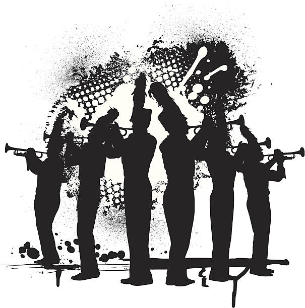 Best Marching Band Silhouette Illustrations, Royalty.