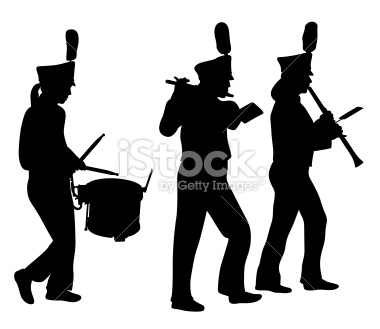 Marching Band Silhouette Clipart#2105217.