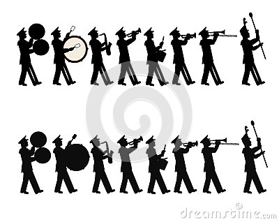 Marching Band Stock Image.