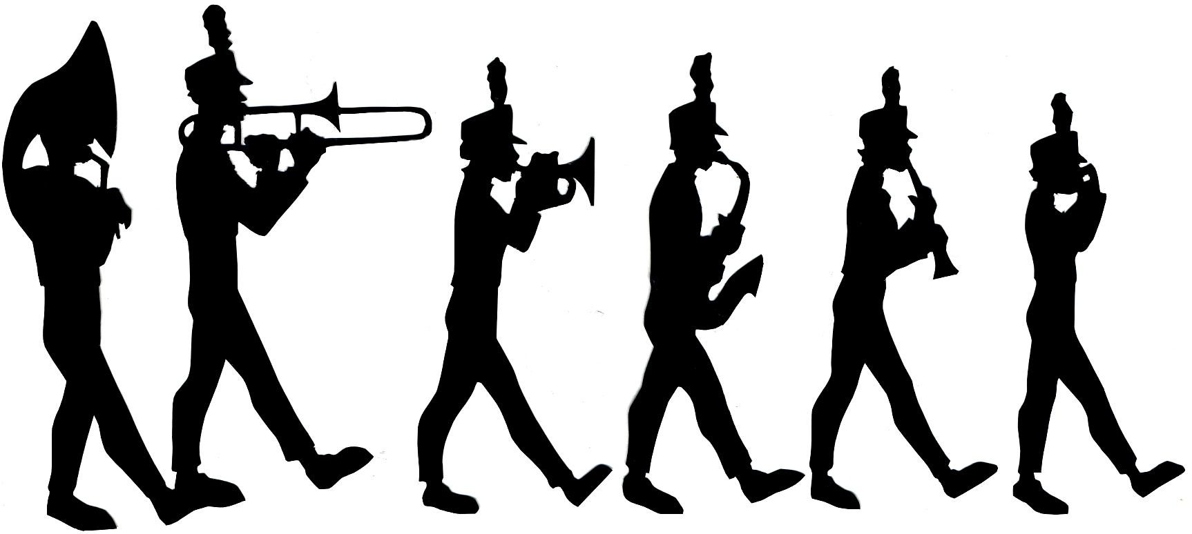 Marching Band Silhouette Clipart#2105219.