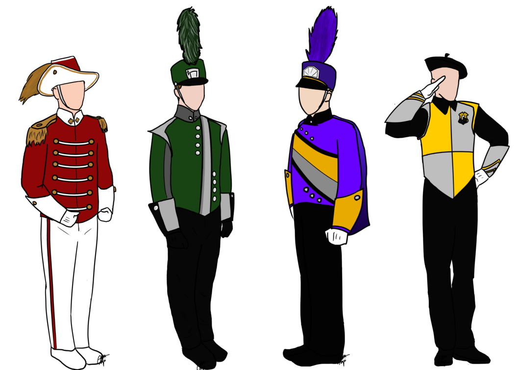 Marching Band Uniform Clipart.