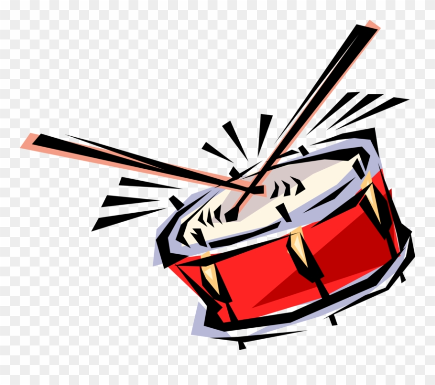 Vector Illustration Of Military Marching Drum Percussion.