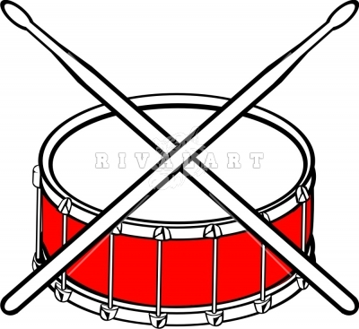 Marching Snare Drum Clip Art.