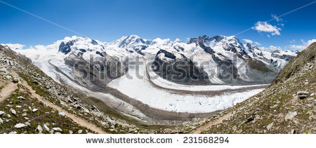Monte Rosa Stock Images, Royalty.
