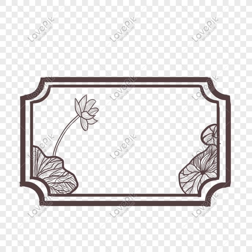 marco de hoja de loto de viento antiguo Imagen Descargar_PRF.