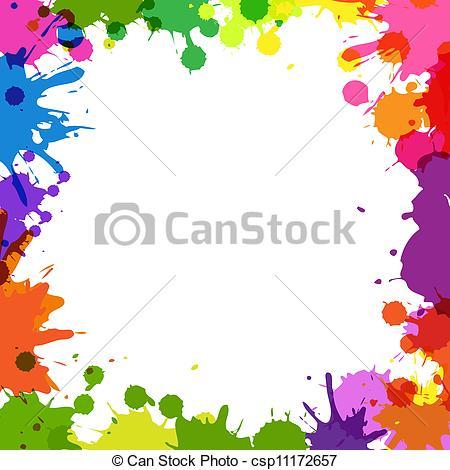 Clipart vectorial de Color, marco, Gotas.