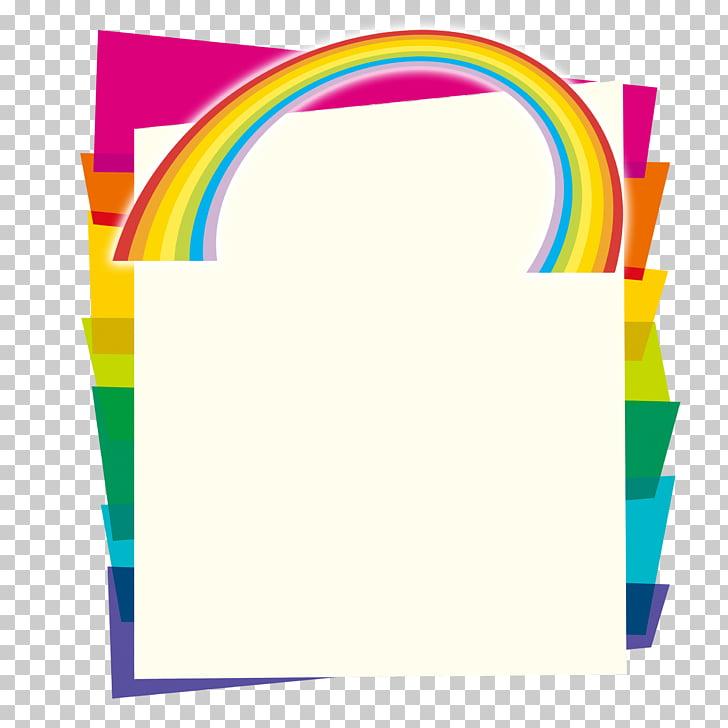 Ilustración de marco de bolsa de papel en colores surtidos.