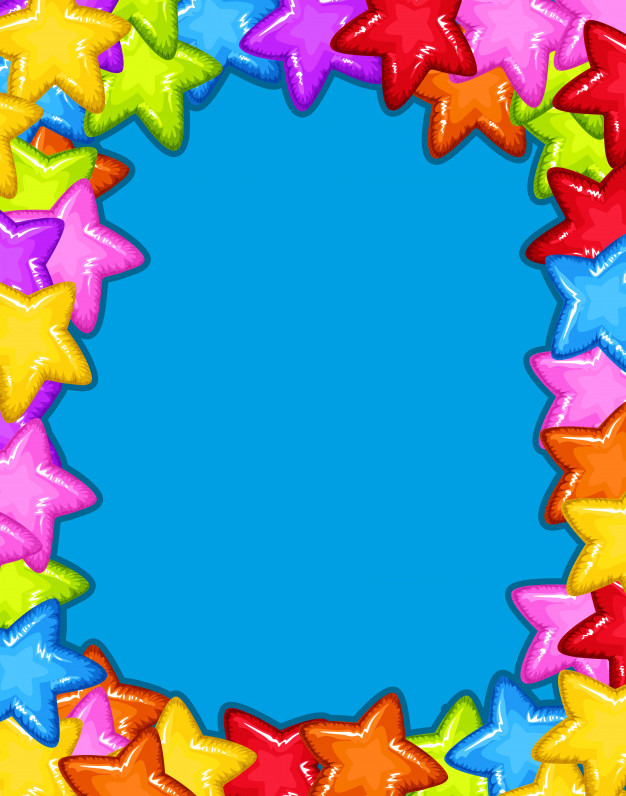 A colourful star frame Vector.