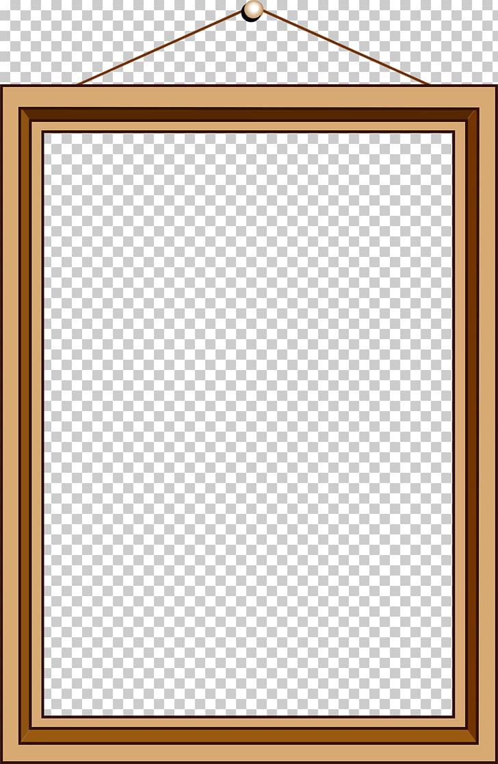 Marco de material, marcos de madera PNG Clipart.