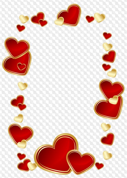 17 PNG, Heart frames, photo frames with hearts.