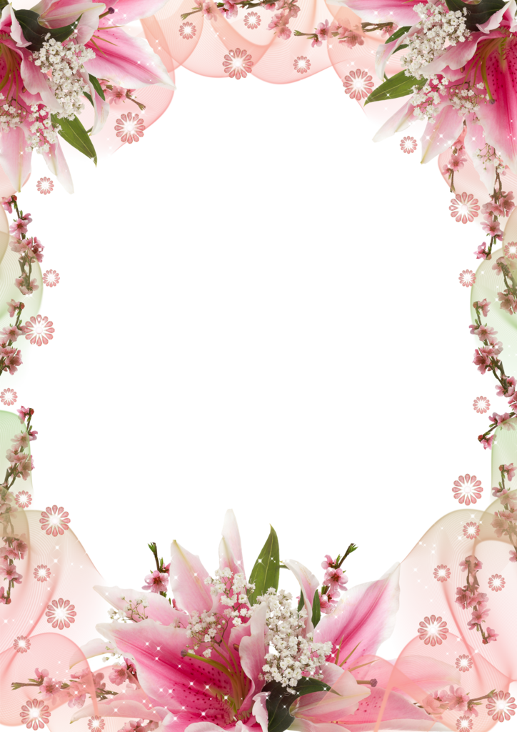 Spring Flowers Frame clipart.