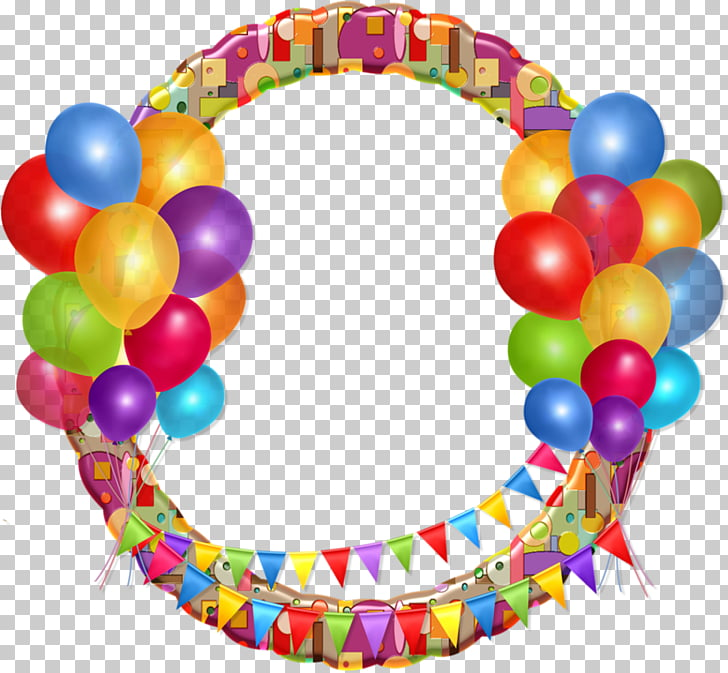 Birthday Borders and Frames Balloon , Birthday PNG clipart.