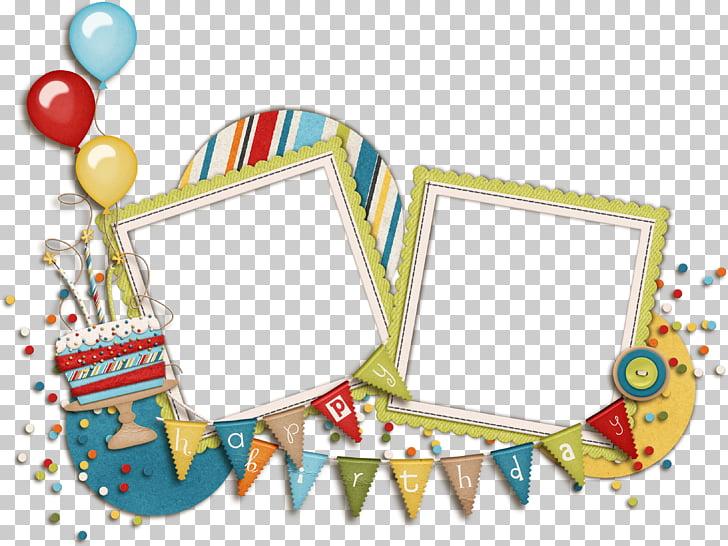 Marco de feliz cumpleaños, marcos de cumpleaños, marco azul.