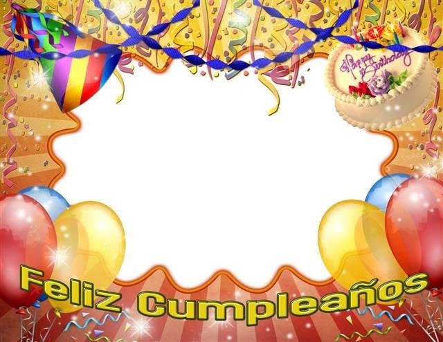 Marco para fotos de cumpleaños gratis.