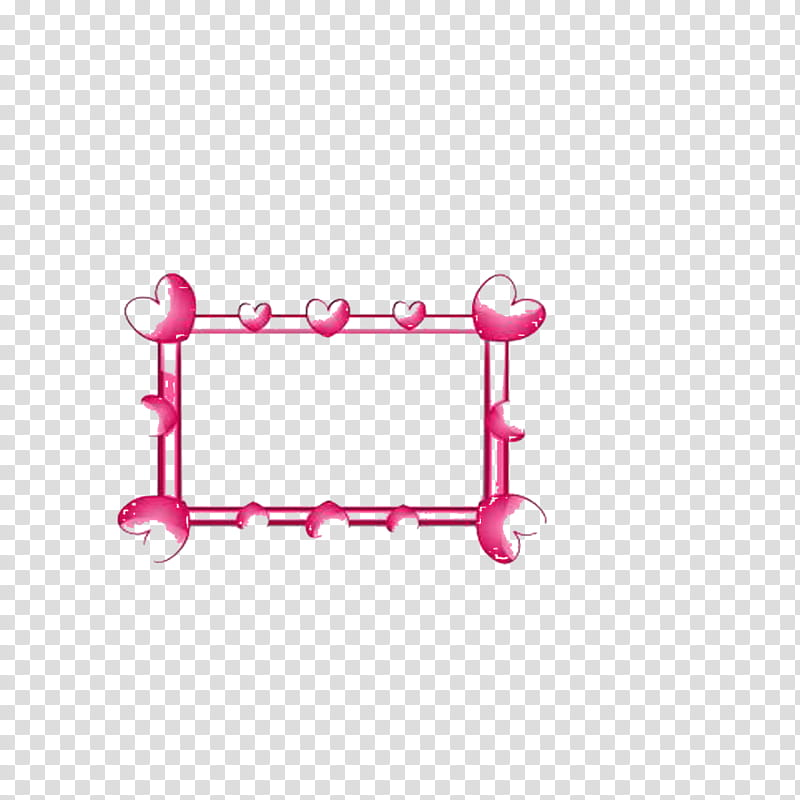 Marco de corazones, pink hearts border illustration.