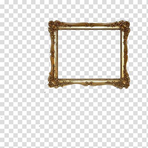 Frames , marco dorado transparent background PNG clipart.