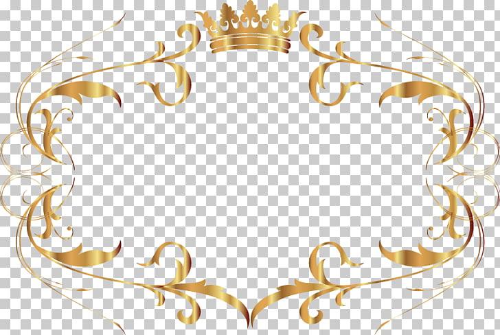 Ilustración de borde dorado, cuadro de texto dorado, marco.