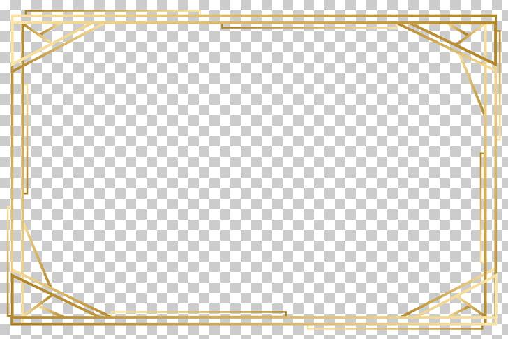Punto de ángulo patrón amarillo, marco dorado, marco.